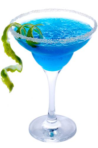 Blue cocktail  Blue Frozen Margarita Cocktail Recipe
